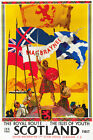 TU43 Vintage See Scotland Royal Route Railway Travel Poster Print A2/A3