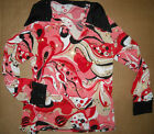 70's Flavored Dance Pullover Coral boys MEN Gold sequin accent Costume unisex