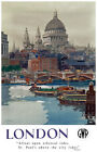 TU61 Vintage London St Paul's GWR Railways Travel Poster Print A2/A3