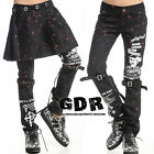 FreeShip X PUNK VISUAL KEI BLACK STUB SLIM ZIP UP 71197 BLACK PRINTED PANTS S-XL