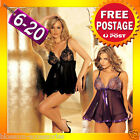 ZBB54 Sexy Baby Doll Dress Babydoll Nightie Slip Chemise Plus Lingerie 6-20