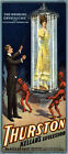 "M10 Huge 17""x38"" Vintage Magic Thurston Magician Illusionist Poster Re-Print"