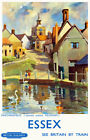 TU93 Vintage Essex Finchinfield British Railways Travel Poster Re-Print A2 A3