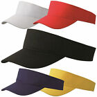 Yellow Red White Black Blue Plain Sun Visor Lifeguard Sports Golf Cap Tennis Hat
