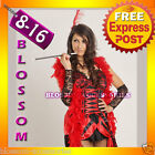 B64 BURLESQUE Ladies SALOON GIRL Flapper Fancy Dress Costume