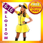 F62 Ladies Yellow Cab Taxi Driver Fancy Dress Hens Night Party Costume & Hat