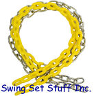 SWING SEAT SWING SET 8 1/2 FT COATED CHAIN PAIR - PLAYGROUND OUTDOORS WOOD 0056