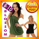 2085 Black Green Cocktail Dance Party Club Wear Mini Dress Womens Fashion 8 10