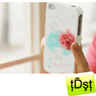 [Happymori] Girl Pink Flower Hard Case Cover For Apple iPhone 4/4S case HM-PC066