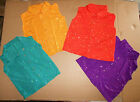 Внешний вид - NWT Faux sequin Spandex Sleeveless SnapFront Shirt FOUR COLORS Child/Adult sizes