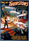 M59 Vintage Thurston's Mystery Floating Woman Magic Theatre Poster Re-Print A4