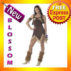 C320 Sexy Indian Princess Pocahontas Native Womens Halloween Fancy Dress Costume