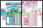 CHILDS PRINCESS REWARD CHART / TRANSPORT REWARD CHART WITH STICKERS AND PEN