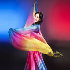 【GD】 belly dance imitated silk veil shawl hemmed 13colors large veil