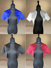 SATIN BRIDAL BOLERO/JACKET/STOLE/SHAWL/SHRUG SHORT SLEEVES ALL SIZE HIGH QUALITY