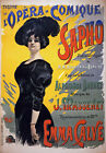 AV66 Vintage French Sapho Theatre de l'Opera Advertisement Poster A1/A2/A3