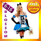 G12 Ladies Alice In Wonderland Fancy Dress Halloween Outfit Disney Theme Costume