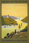 TX05 Vintage France Excursions Bretagne Brittany French Travel Poster A1/A2/A3