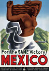 TR30 Vintage Mexico Mexican Same Victory Travel Poster Re-Print A4
