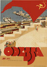 TR49 Vintage USSR Odessa Soviet Russia Russian Travel Poster Re-Print A4