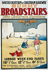 TR68 Vintage Broadstairs South Eastern Chatham Railway Travel Poster A4