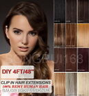 "19"" 4FT DIY Weft Clip in Human Hair Extensions"