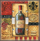 Light Switch Plate Cover - Tuscan Wine With Grapes - Kitchen Decor