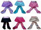 BNWT Baby girl tights & skirt 2in1 design 0-1-2-3yrs