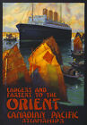TW76 Vintage Orient Steamships Cruise Ship Travel Poster Re-Print A4