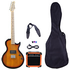 Beginner Electric Guitar Package Amp Case Strap Picks Tuner