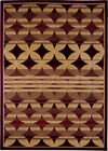 Modern Red Beige Geometric Abstract Area Rug Contemporary Striped Carpet