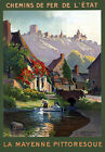 T89 Vintage French Mayenne Travel Poster A1 A2 A3