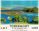 TT94 Vintage 1920's Tobermory LNER LMS Railway Travel Poster Re-Print A3 A2