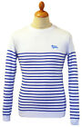 MENS RETRO MOD SIXTIES STRIPED STRIPEY BRETON Bretton SWEATER/JUMPER 70s White