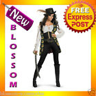 C233 Pirates Of The Caribbean Angelica Deluxe Halloween Ladies Adult Costume