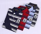 Tommy Hilfiger Men Pique Sash Stripe Short Sleeve Custom Fit Polo Shirt -$0 Ship