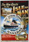 TS60 Vintage Isle Of Man Midland Railway Cruise Steamer Poster Re-Print A4