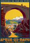 TT24 Vintage Amelie Les Bains Pyrenees French France Travel Poster Re-Print A4