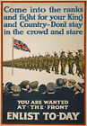W49 Vintage WWI For King & Country British Recruitment Poster WW1 Re-Print A4
