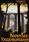 TX93 Vintage Bodensee Toggenburg-bahn Swiss Railway Travel Poster A1/A2/A3