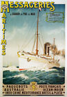 TX158 Vintage Messageries Maritimes French Cruise Shipping Travel Poster A2/A3