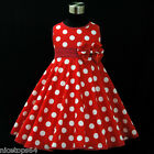 R3121 Girl Kids Reds Christmas Party Girls Dress Outfit SIZE 2,3,4,5,6,7,8,9,10T