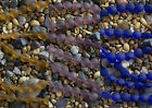 12mm Coin Beach Sea Glass Beads You Pick! Dark Amber Cobalt or Medium Amethyst