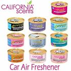 CALIFORNIA SCENTS ORGANIC CAR VAN TAXI AIR FRESHENER OFFICE HOME GYM FRAGRANCES