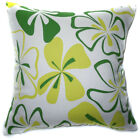 AF59a Lime Yellow Flower Cotton Canvas Cushion Cover/Pillow Case *Custom Size*