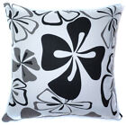 AF60a Black Grey Flower Cotton Canvas Cushion Cover/Pillow Case *Custom Size*