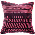 UL32a Pink Srtipe Dark Pink Velvet Style Cushion Cover/Pillow Case Custom Size