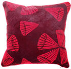 UL63a Deep Red Cone on Very Dark Red Velvet Style Cushion Cover/Pillow Case Size