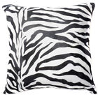 Ff04a Faux Fur Black White Zebra Skin Print Cushion Cover/Pillow Case*Custom Siz