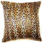 Ff08a Faux Fur Brown Leopard Skin Print Cushion Cover/Pillow Case*Custom Size
